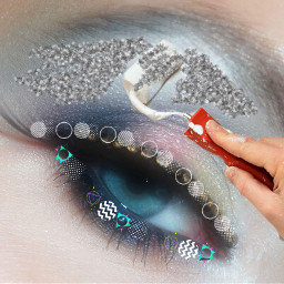 freetoedit silverglitterbrush kpopbrushes shapesbrush makeup