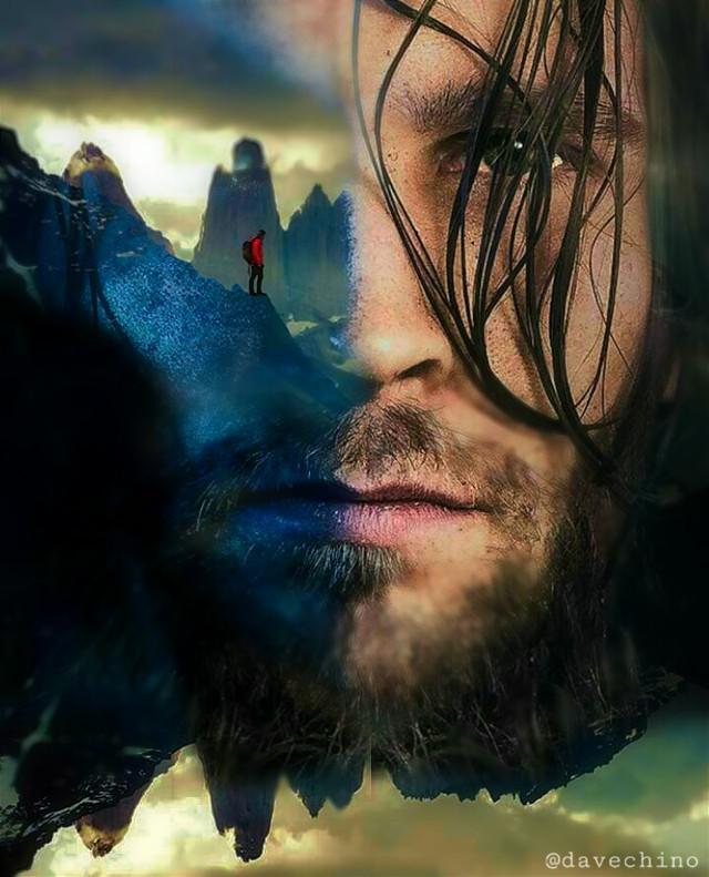 #doubleexposure #upsidedown  #face #man #manface #mountain #wanderlust @freetoedit @picsart #myart #myedit