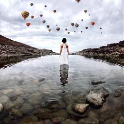 ircreflectionsofwater reflectionsofwater freetoedit airballoon remixed