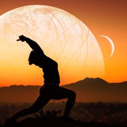 freetoedit relax yoga planet moon