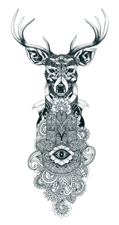 tattoo armtattoo design black deer freetoedit
