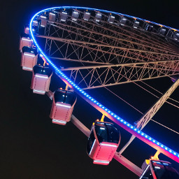 freetoedit ferriswheel funtime night nightview pcamusementpark