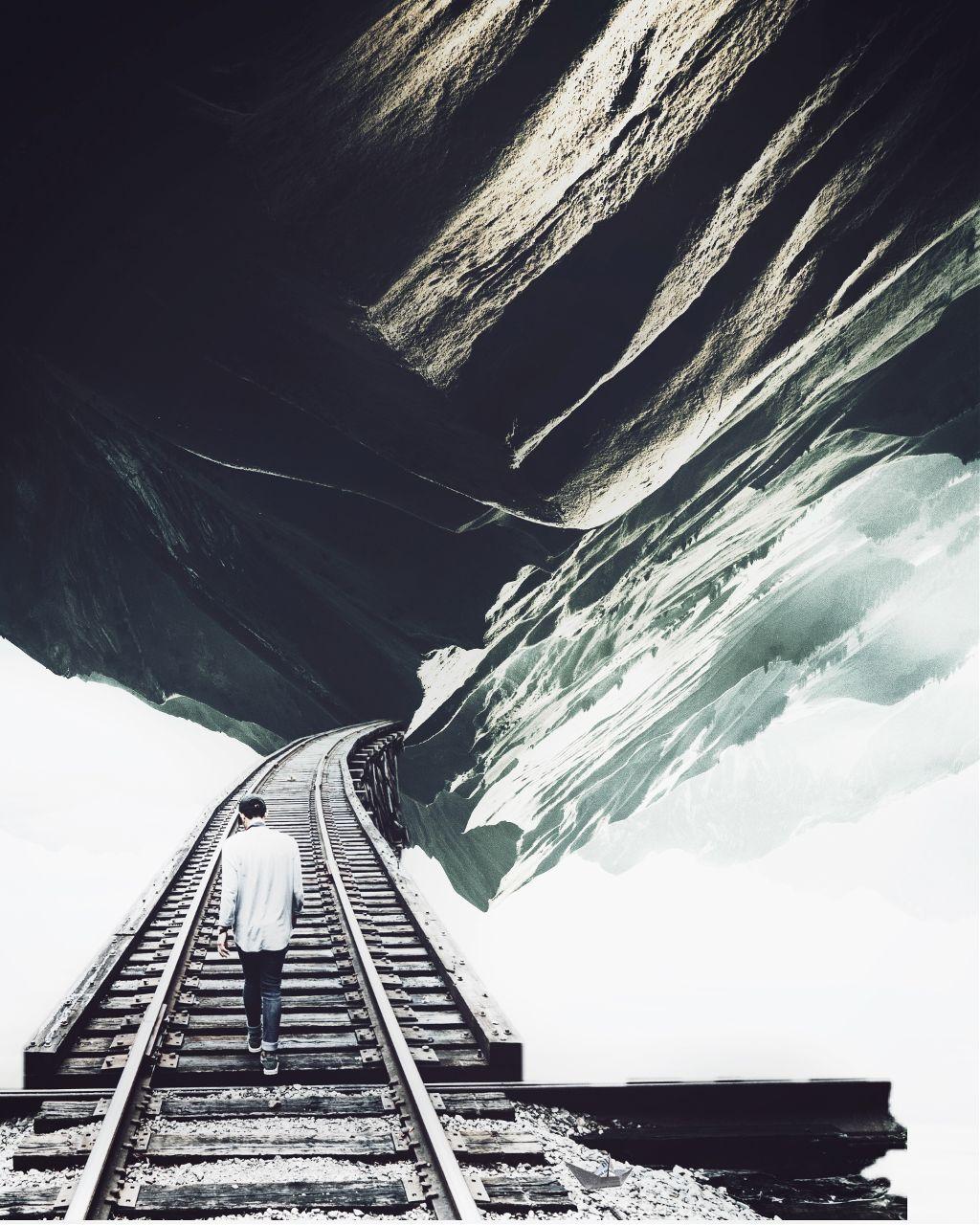 #freshstart #newtrails #tracks #walking #surreal #book #traveling