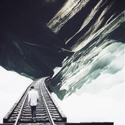 freshstart newtrails tracks walking surreal