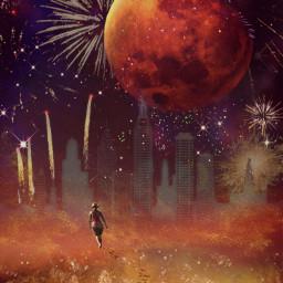 freetoedit mars fireworks gold red ecmybestedit