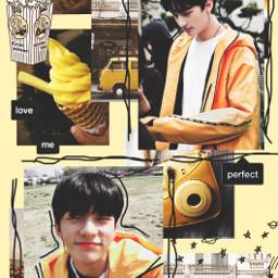 freetoedit hyunjin visual yellow skz