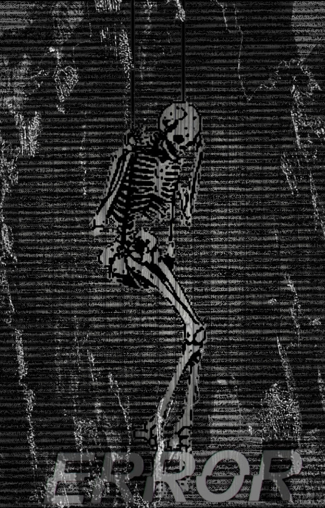 HALLOWEEEEN IS ALMOST HERE 😍💀  #creppy #skeleton #error #swing #scary #halloween #september2018 #1monthtillhalloween #glitch ?