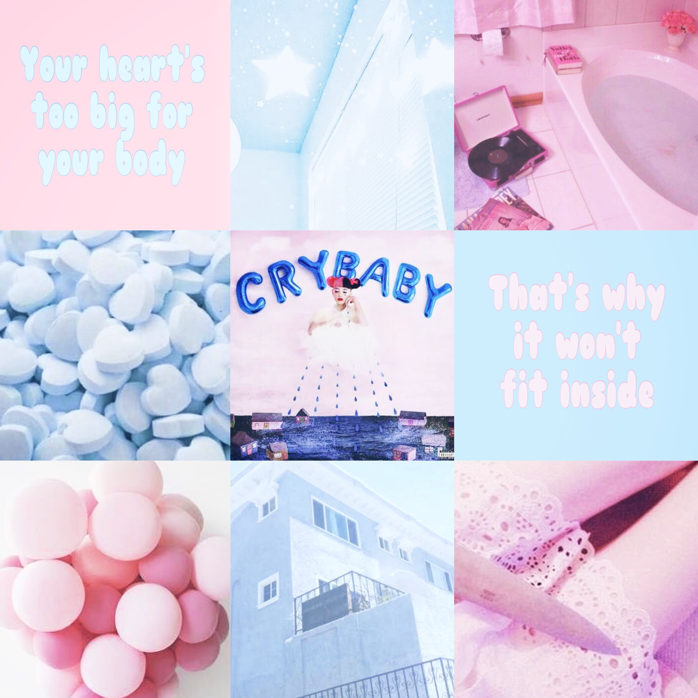 Crybaby Aesthetic Pink Blue Pastel Image By Hannah