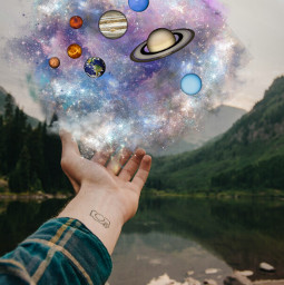 space hand edit gezegen uzay freetoedit