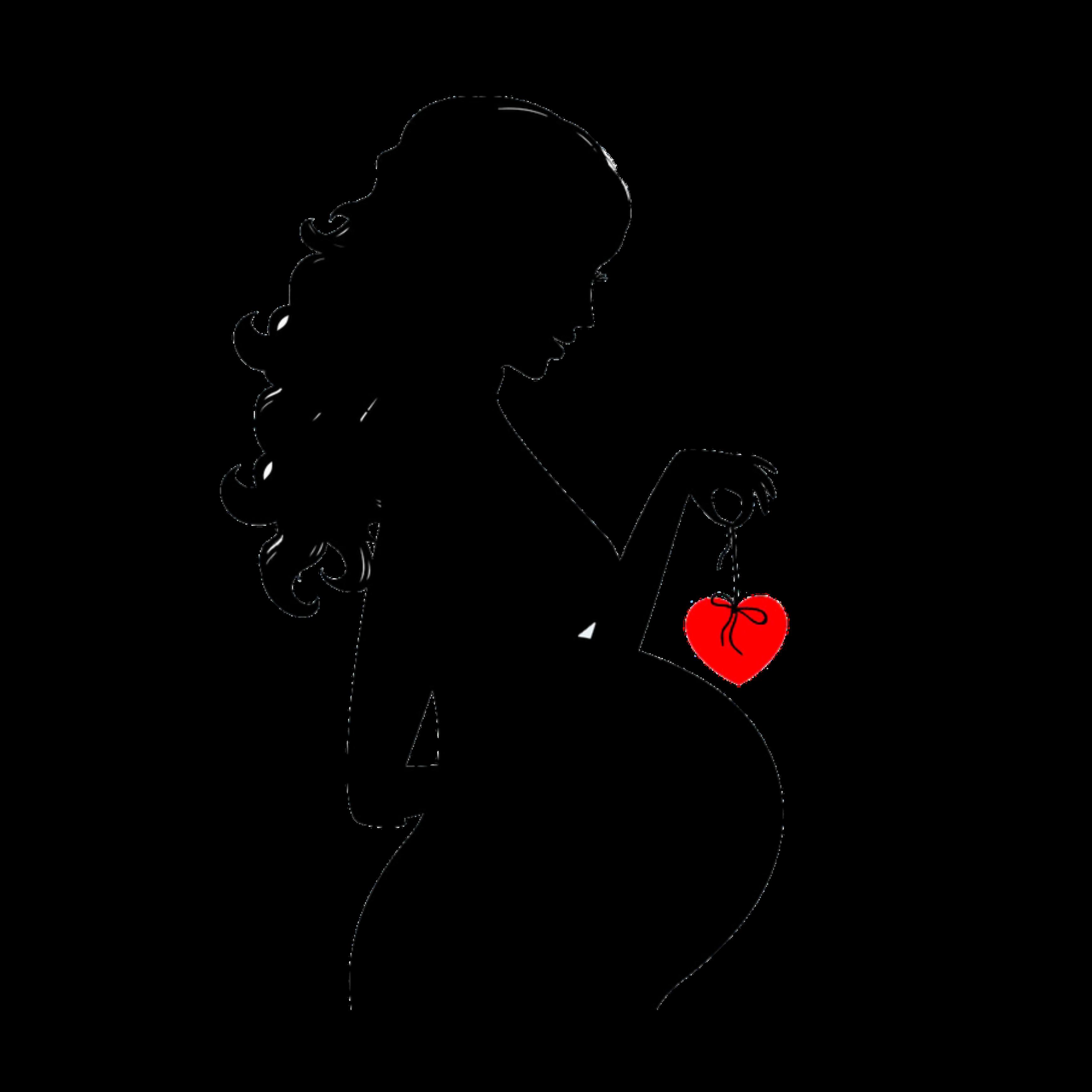 Беременная женщина картинка на белом фоне