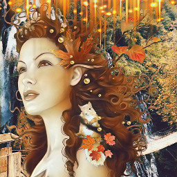 freetoedit squirl autumn fairy beautiful