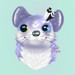otter headshot bustshot purple 1layer