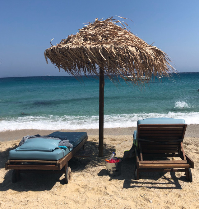 #summer #beach #greece #umbrella #freetoedit #summerthrowback