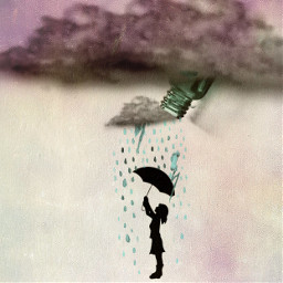 ircgreenglassbottle greenglassbottle rain umbrella cloud freetoedit