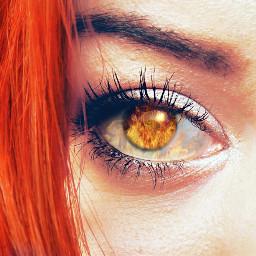 freetoedit eye fire edit redhair