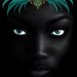 black eyes face ilikethispicture digitaledit freetoedit