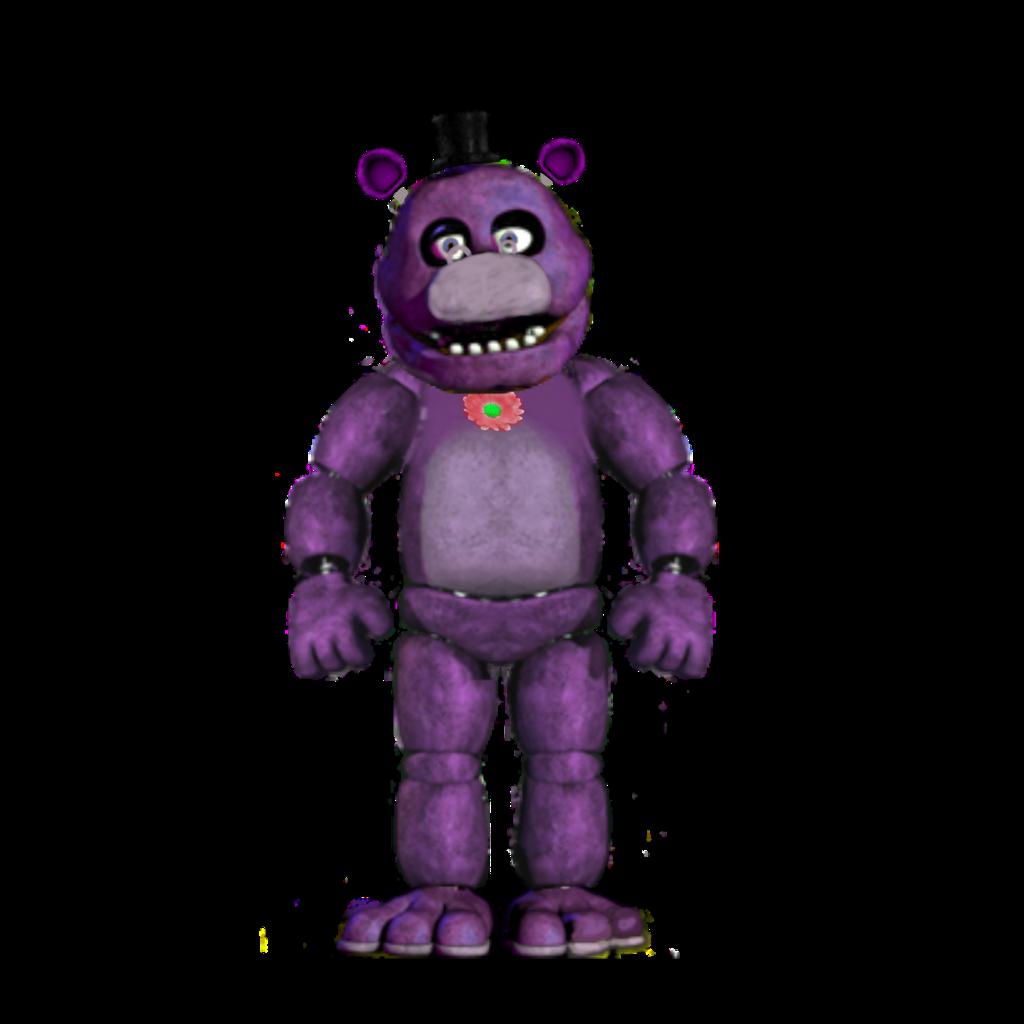 Classic Mr  Hippo fnaf - Sticker by Inferno
