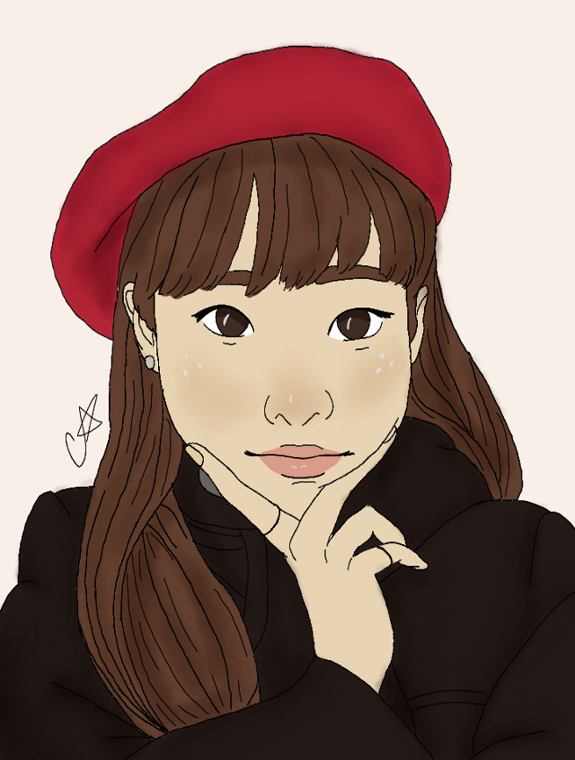 Sending a little Chuu your way🌹❤ Trying new stuff again. I've been getting less and less likes so idk what to do.   #freetoedit #kpopfanart #kpop #art #drawing #myart #mydrawing #fanart #loona #chuu