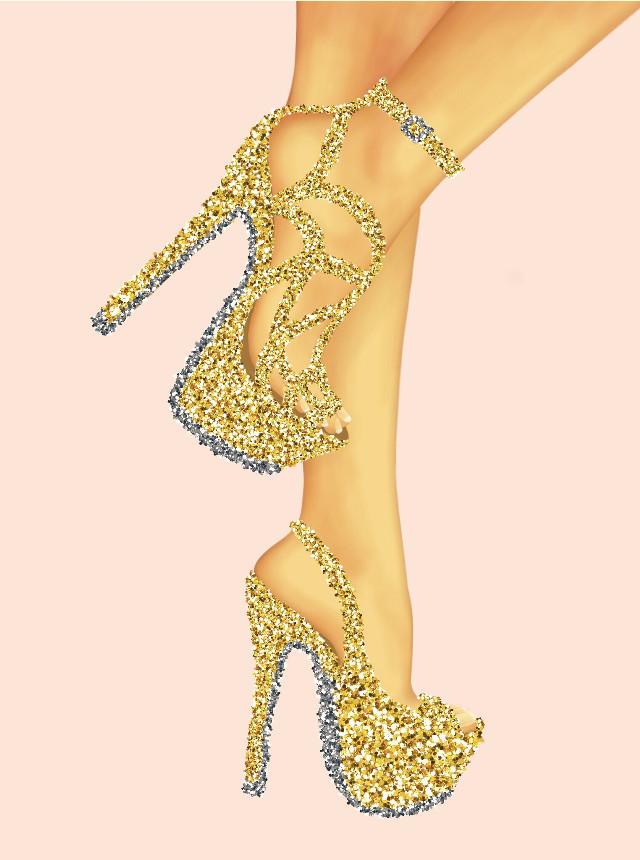 #freetoedit #ecnewbrushes #newbrushes #sparkle #glitter #heels #silver #gold