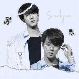 bts seokjin jin worldwidehandsome blue