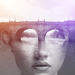 freetoedit girl bridge river