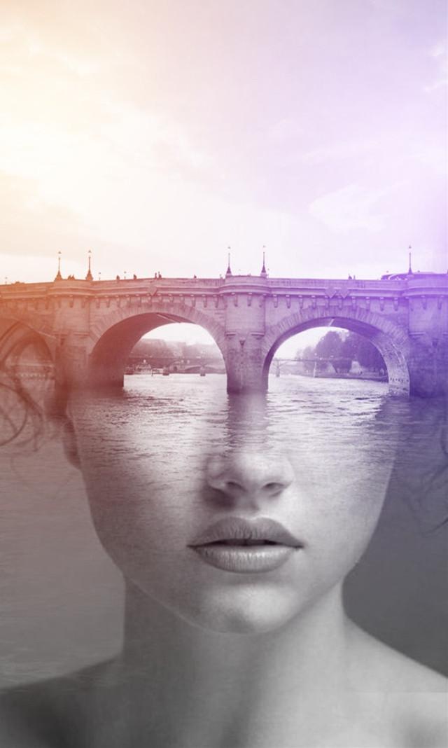 #freetoedit #girl #bridge #river