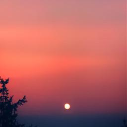 freetoedit moon eveningsky redsky nature