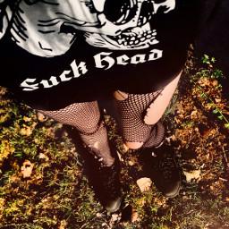 alternativemodel alternativefashion gothgirl fuckhead tshirt freetoedit