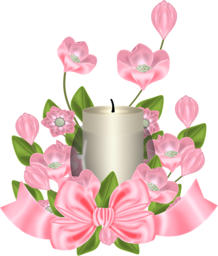 #ftestickers#candle#flowers
