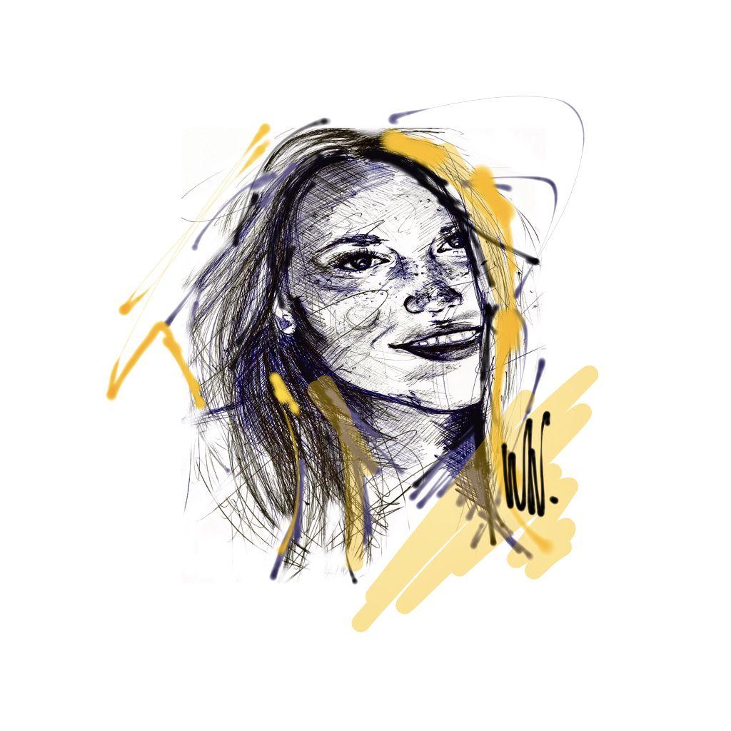 pen drawing with some picsart fingerwork #analog #digital #freetoedit #drawing #artwork #art #sketch