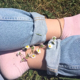 socks aesthetic flowers tumblr arthoeaesthetic