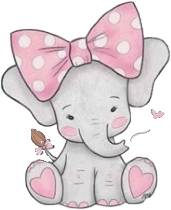 Extremely Cute and Funny Names for Your Baby Elephant ... |Cartoon Baby Elephant Pink