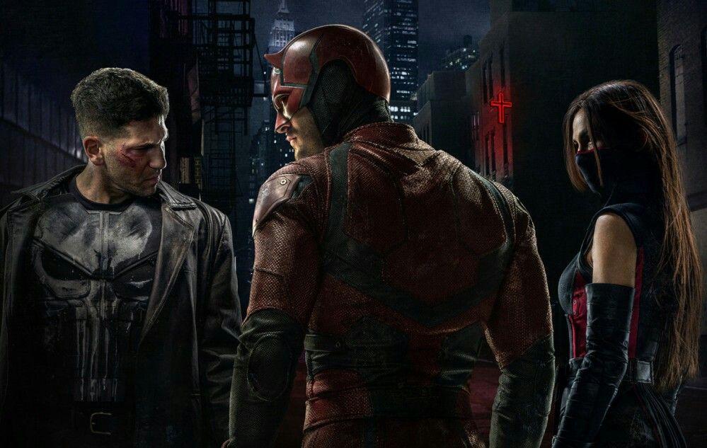 Daredevil Elektra Punisher Daredevil Season 2 Wallpaper