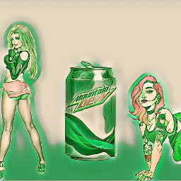 freetoedit mountaindew art lit can ircsilvermetalcan