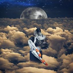 freetoedit dancer sky moon star