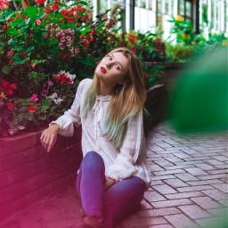 girl model colour portrait colourful