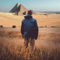 freetoedit man egypt pyramid pyramids