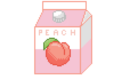 Peach Milk Pink Pixelart Sticker By Evəlyn