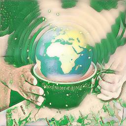 freetoedit greenmagiceffect globe world multipleeffects ircinternationalcoffeeday