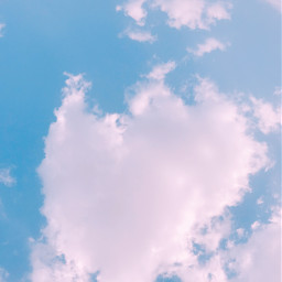 freetoedit sky heart blue pink pcnaturephotography