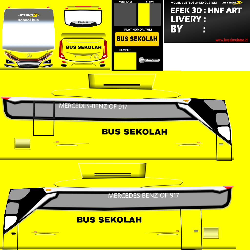 Jetbus 3 Md School Bus Bussid Image By Ryzon