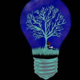 dcmydreamland mydreamland bulb tree moon freetoedit