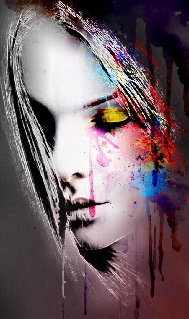 #freetoedit #interesting #myart #womanportrait #painting #madewithpicsart  #colorful