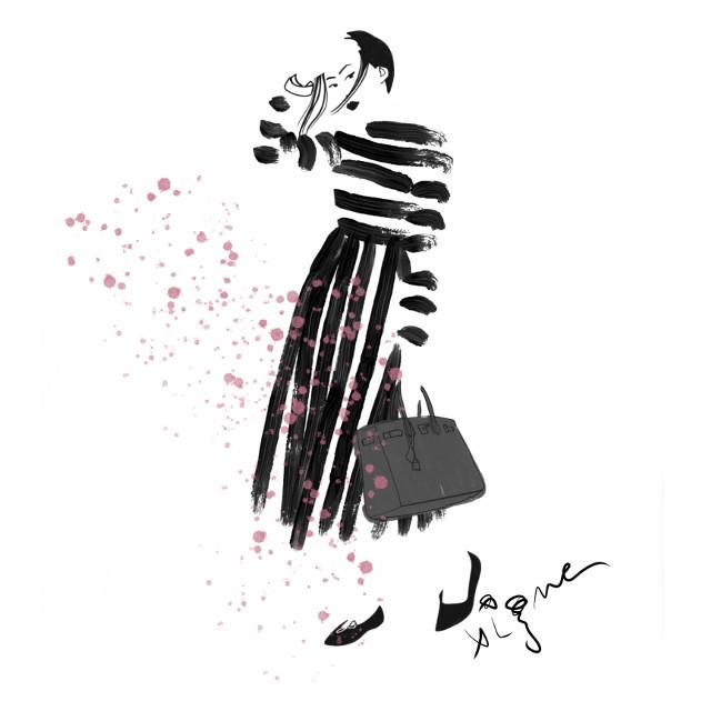 Happy Saturday! Fashion illustration by Rocio Vigne