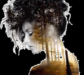 woman doubleexposure silhouette girl freetoedit