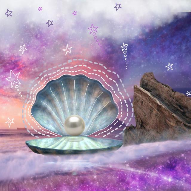 #freetoedit #sheel #pearl #sea #stars #white