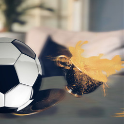 freetoedit soccerball cupofcoffee capuccino splash ftestickers