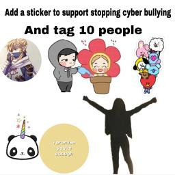 freetoedit endcyberbulling stopbullying stopcyberbullying support
