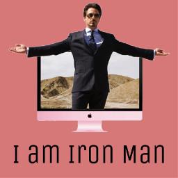 freetoedit tonystark ironman imac marvel