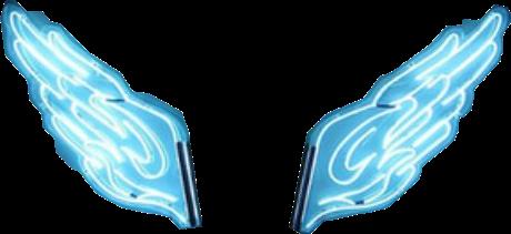 wings aesthetic blue neon freetoedit
